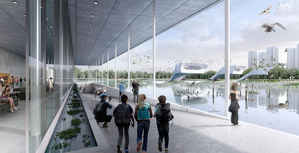 Lingang Bird Airport. Image: McGregor Coxall.
