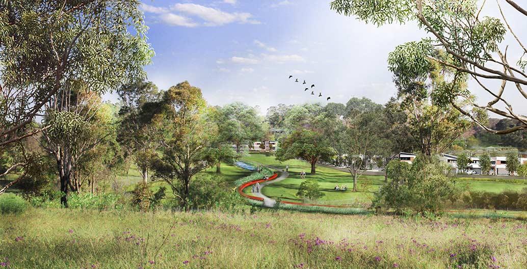 Southern Parklands Vision 2036. Image: TDEP.