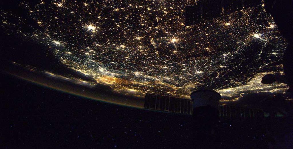 Europe's night lighting as captured by European Space Agency astronaut Thomas Pesquet. Image : ESA