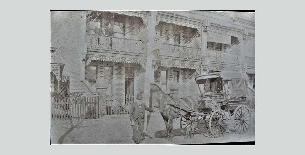 An early Melburnian suburbanite, Fitzroy circa 1900. Image: Public domain