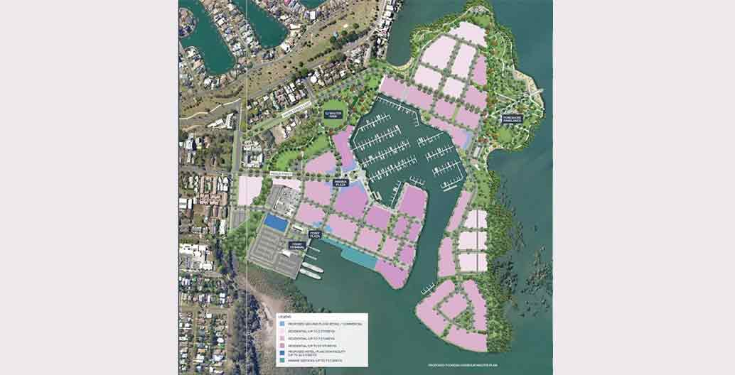 Toondah Harbour master plan Image: The Walker Group
