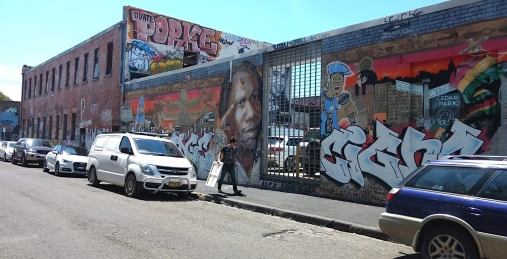 Gentrification of inner city suburbs is occurring on old industrial sites. Fitzroy St, Victoria, Australia Photo: Foreground