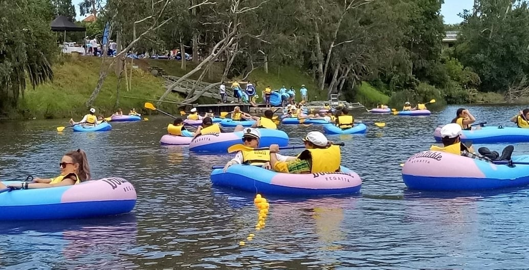 'Inflatable Regatta' started in 2016 and has become a popular regular event on the Yarra River.