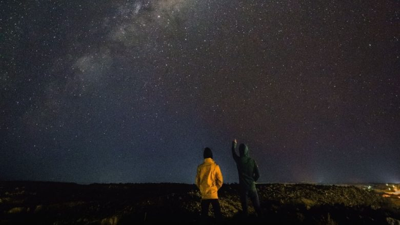 Stargazing in remote Coober Pedy, Central Australia. We need to travel far to see the stars. Photo: Yong Chuang