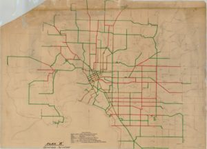 A 1920s plan of unrealised tramway expansion for Melbourne, Australia.