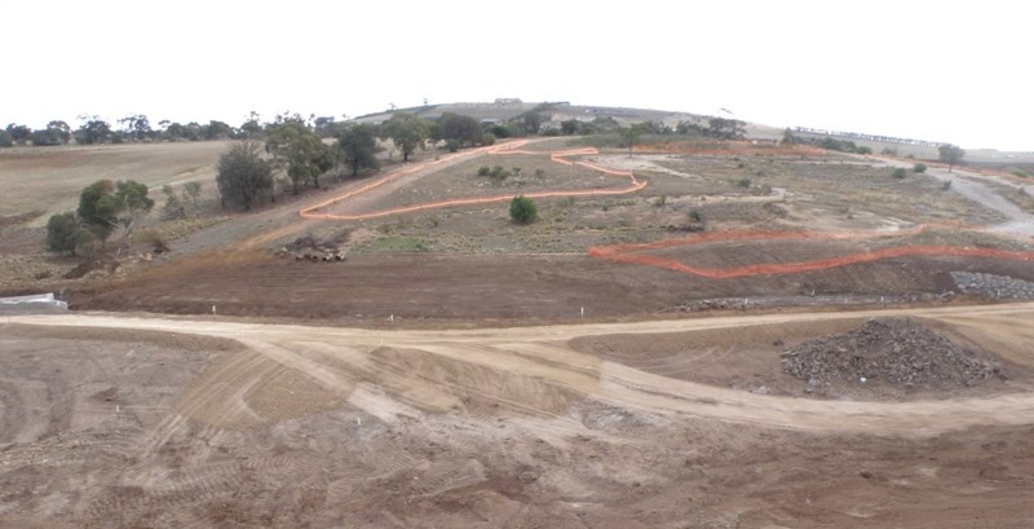Before: Site preparation including extensive weed removal for Wanginu Park by GbLA at Jackson's Hill. Photo GbLA