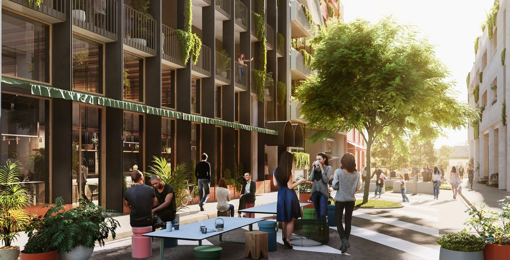 Proposed design for Duckett Street, Nightingale Village. Image: Nightingale Group