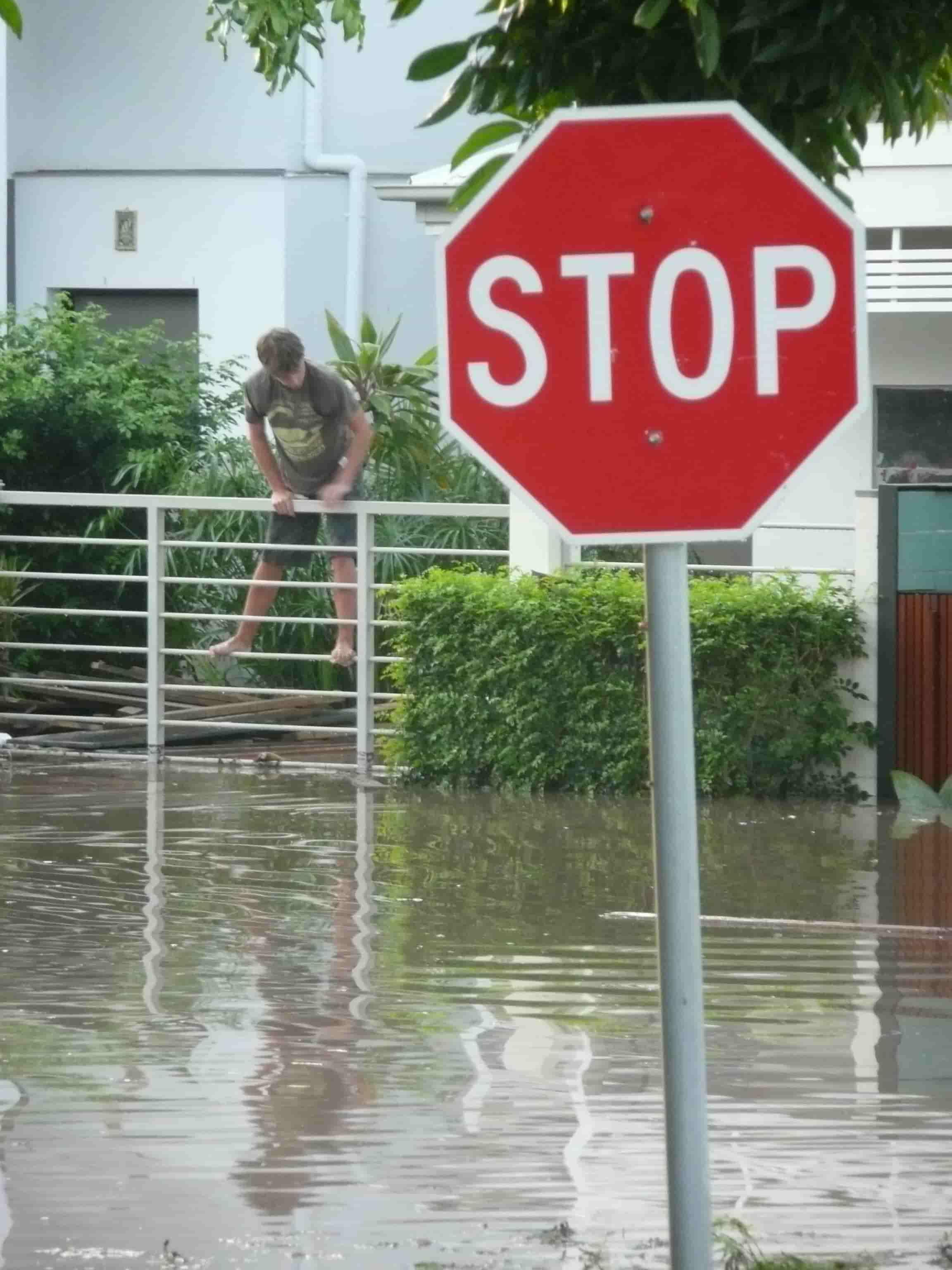 Flooding of my West End neighbourhood in Brisbane, 2011. Photo: John Mongard