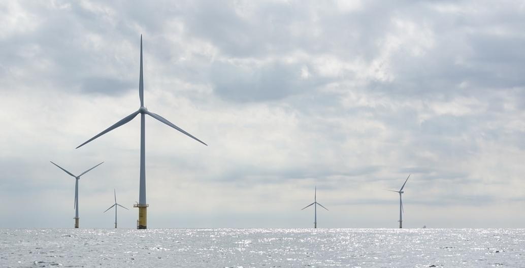 North Sea windfarm.