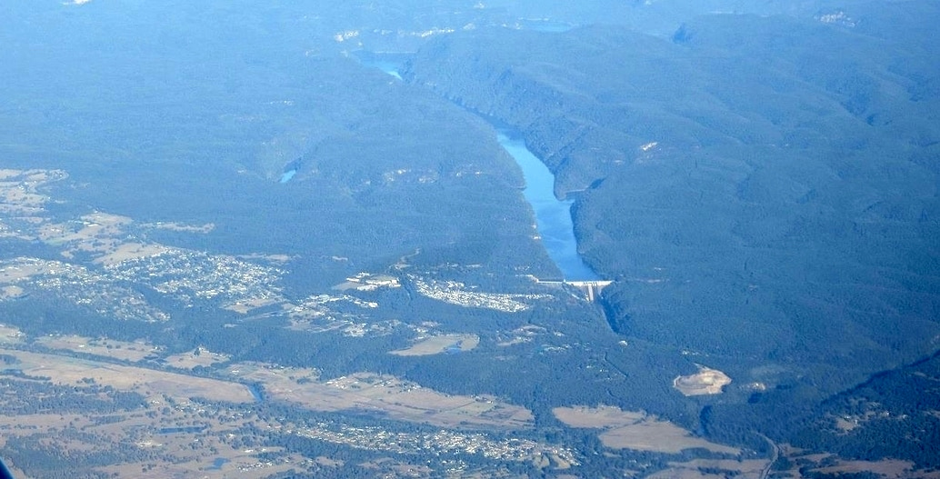 An aerial view of Warragamba Dam on the Hawkesbury-Nepean River system. Photo: Bidgee