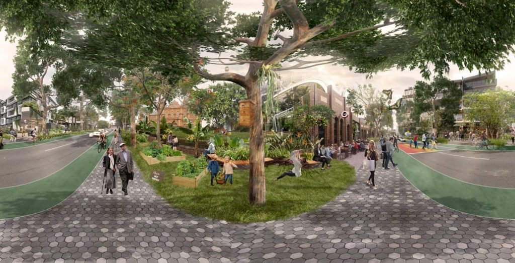 Green the Street at Brisbane's EKKA is hosting over 40 organisations and their ideas for community greening projects, including virtual reality visions of transformations. Image: Catherine Simpson. Roberts Day