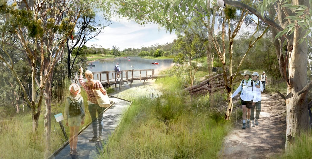The award-winning Oxley Creek Transformation Master Plan is an ambitious strategic document that makes the most of water as a shared social, economic and environmental asset. Image: Lat27