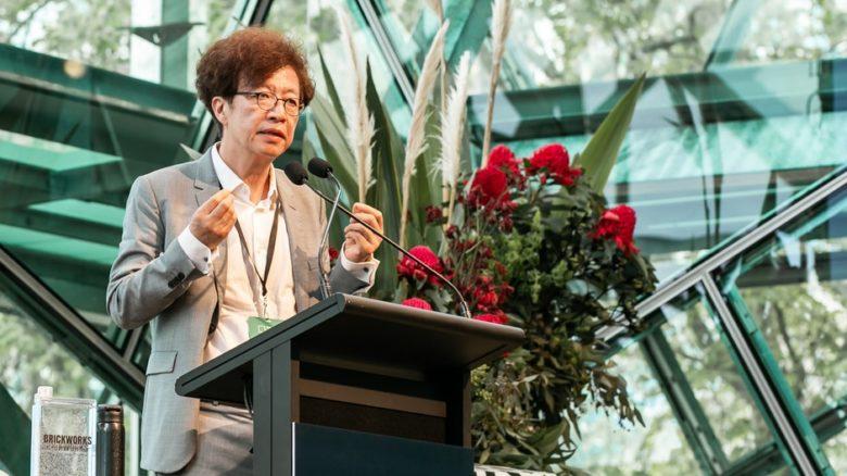 Keynote presenter Kyung-Jin Zoh (Seoul National University) offered insights to very different Korean landscape development processes. Photo: David Hyde