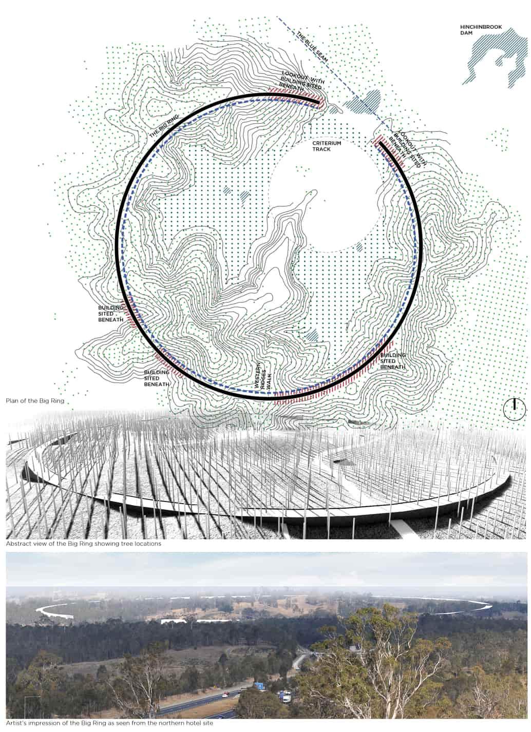 South parklands earth sculpture proposal by TYRELLSTUDIO.