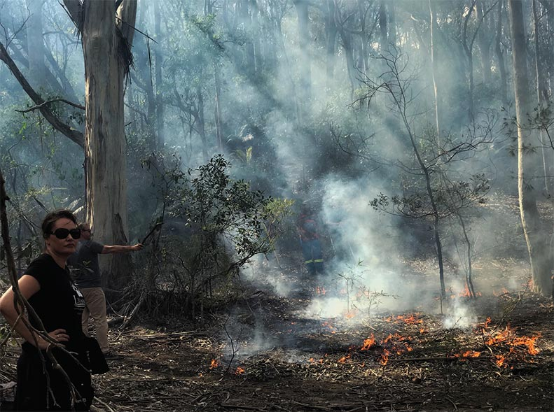 Banbai rangers working in collaboration with Rural Fire Services 2014.
