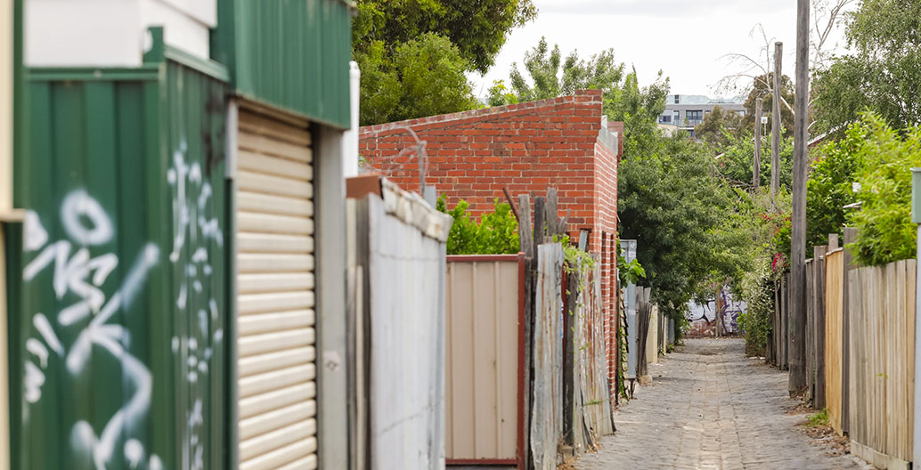 Cobbled alleyway in Melbourne. Image: DJ Paine