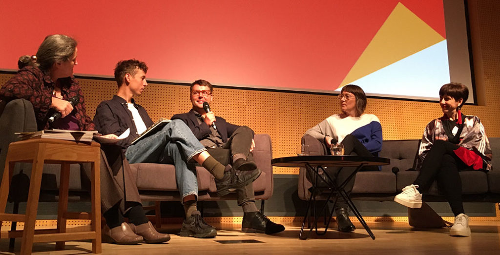 The panel of Gutter Journalism: Reflections on a quarter-century of Kerb at the NGV.