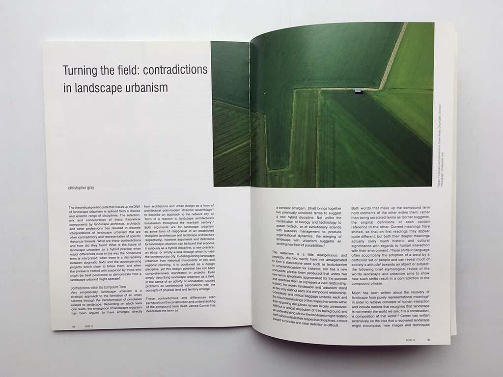Feature in Kerb 15: Landscape Urbanism