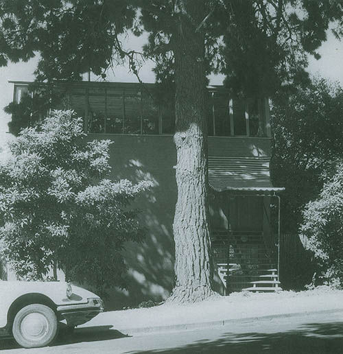 Period photograph of Robin Boyd's 290 Walsh Street Residence. Photo: Mark Strizic