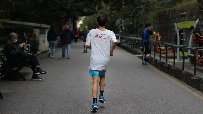 The harshest lockdown measures include banning jogging, cycling and closing public parks. Image: Macau Photo Agency