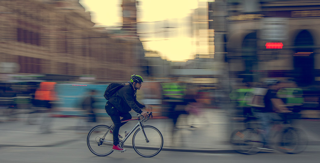 Cycling is emerging as the best way to get around during the pandemic. Image: Mitchell Luo