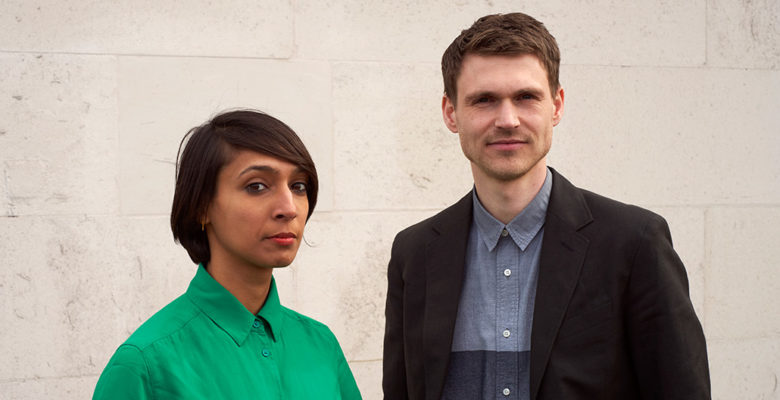 Co-founders of Public Practice, Pooja Agrawal and Finn Williams. Image: Timothy Chase