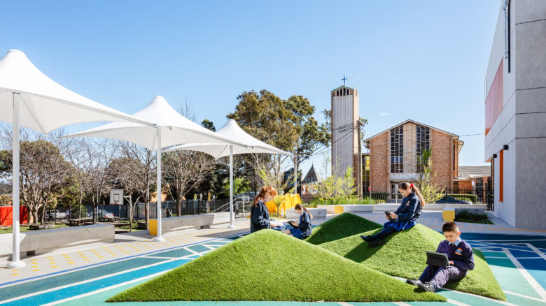 All Hallows Catholic Primary School by Tyrell Studio, winner of NSW Award of Excellence for Health and Education Landscape