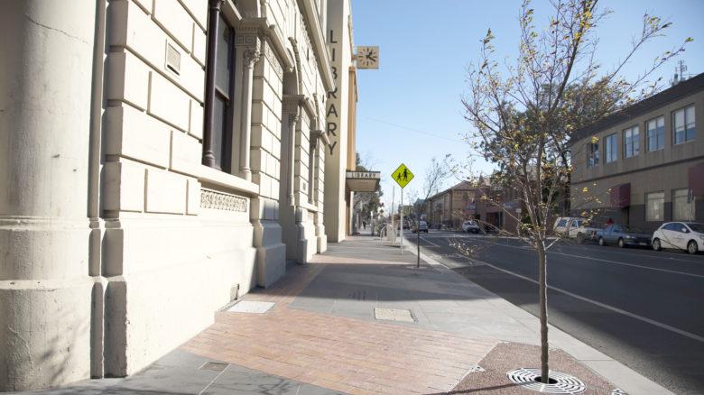Dawson Street streetscape works. Image: courtesy of Moreland City Council.