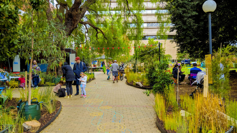 The Living Pavilion—Clean Air & Urban Landscape Hub (CAUL) along with others. Image: Isabel Kimpton