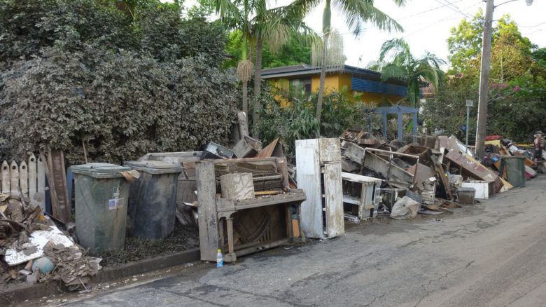 Flood-damaged household items removed from Brisbane homes after the clean-up. Image: Edeink