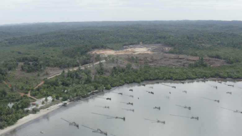 Land clearing for new infrastructure, future site of the new capital, East Kalimantan, Indonesia (2020).