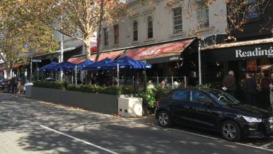 Parklets on Lygon St have been popular with diners.